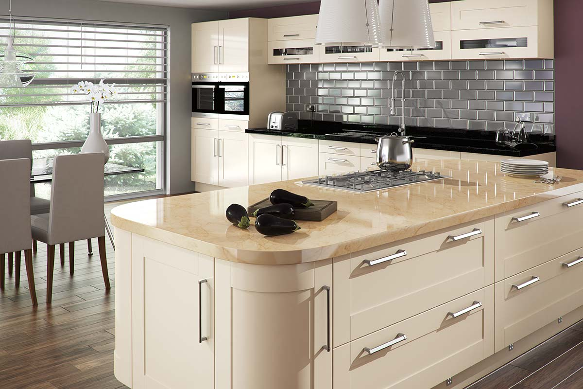 3D Solutions Amalfi Cream Gloss Kitchen