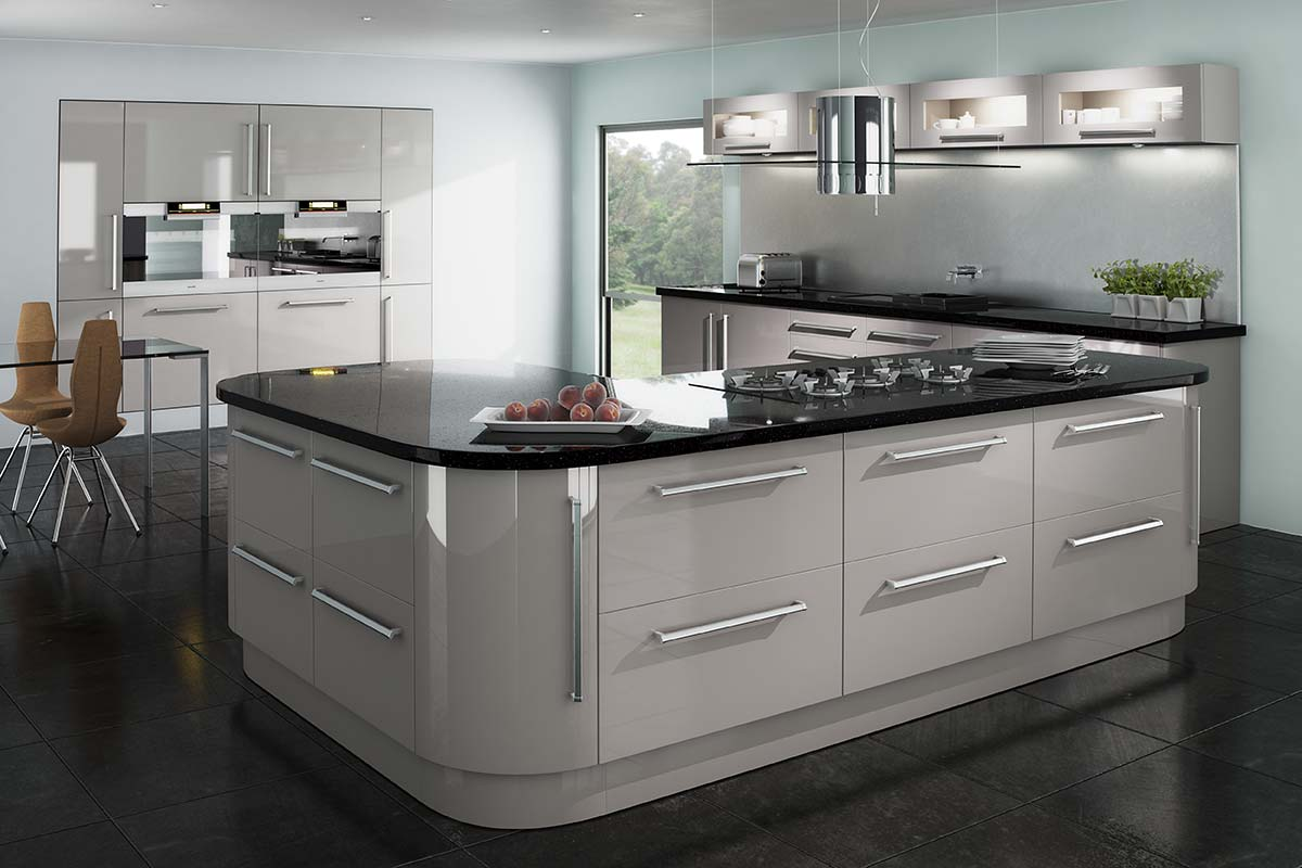 3D Solutions Eclipse Cappuccino Gloss Kitchen